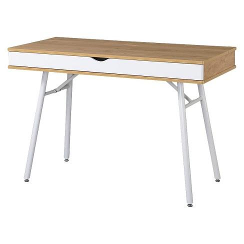 Wondrous Modern Multi Storage Computer Desk With Storage Beige White Techni Mobili Interior Design Ideas Clesiryabchikinfo