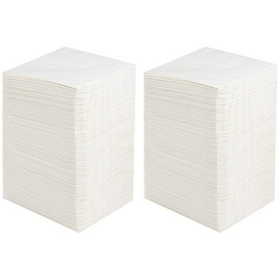 """Juvale 500-Pack Disposable White Paper Cocktail Napkins 5"""" Party Supplies Catering Restaurant Buffet"""