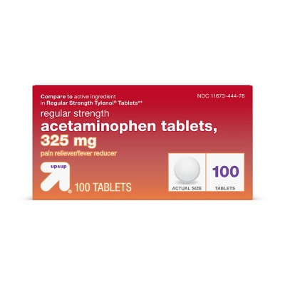 Acetaminophen Regular Strength Pain Reliever & Fever Reducer Tablets - up & up™