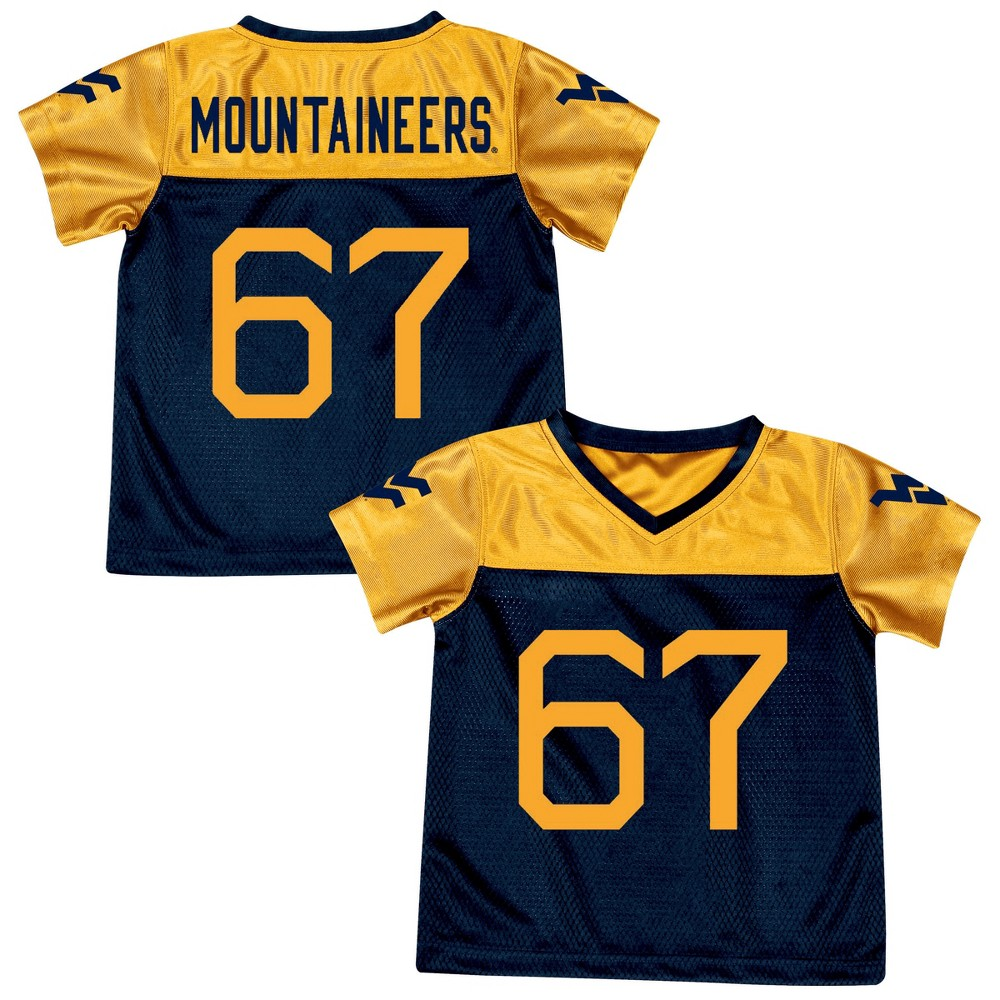 Athletic Jerseys West Virginia Mountaineers 2T, Multicolored