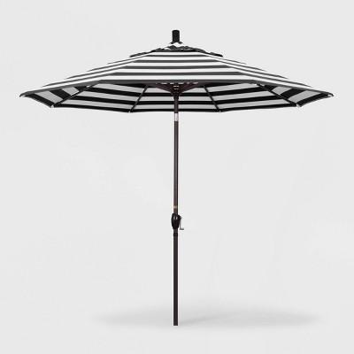 9' Pacific Trail Patio Umbrella Push Button Tilt Crank Lift - Sunbrella Cabana Classic - California Umbrella