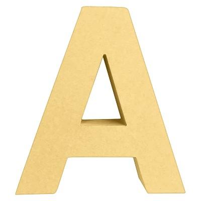 """7"""" Paper Mache Letter A - Hand Made Modern"""
