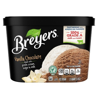 Breyers Vanilla Chocolate Ice Cream - 48oz