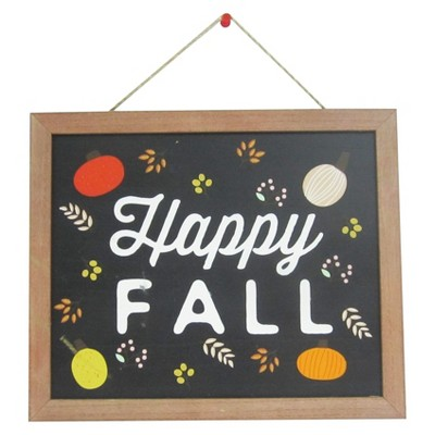 Harvest Happy Fall Hanging Sign Wood