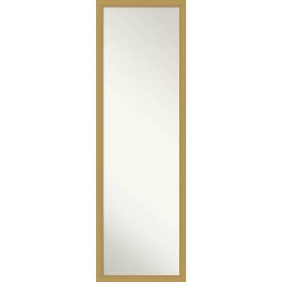 Brace Brushed Framed Full Length on the Door Mirror - Amanti Art