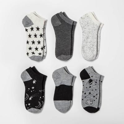 Women's Outerspace 6pk Low Cut Socks - Xhilaration™ Gray 4-10