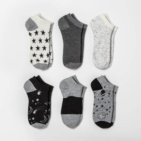 Women's Outerspace 6pk Low Cut Socks - Xhilaration™ Gray One Size - image 1 of 1