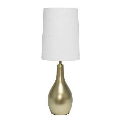 1 Light Tear Drop Table Lamp Gold - Simple Designs