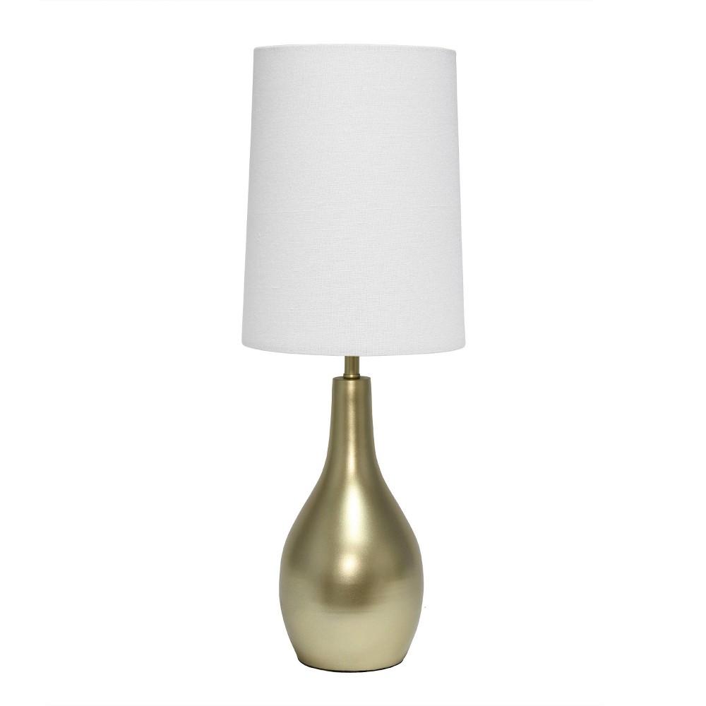 1 Light Tear Drop Table Lamp Gold Simple Designs