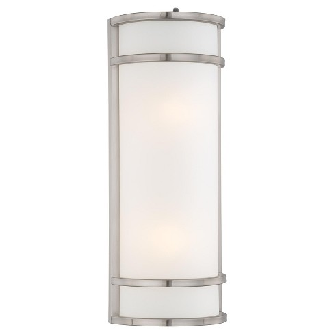 """The Great Outdoors 9803-144-PL 2 Light 20.5"""" Height Outdoor Wall Sconce in Brushed Stainless Steel from the Bay View Collection - image 1 of 1"""