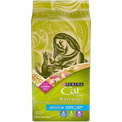 Cat Chow Natural Chicken Turkey Indoor Dry Cat Food - 6.3lbs