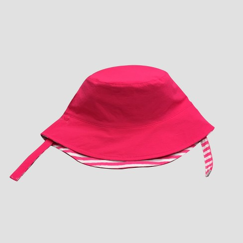 Toddler Girls' Striped Bucket Hat - Cat & Jack™ Pink 2T-5T - image 1 of 2