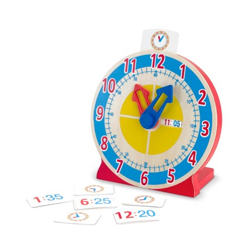 Melissa & Doug® Turn & Tell Wooden Clock - Educational Toy With 12+ Reversible Time Cards - image 1 of 3