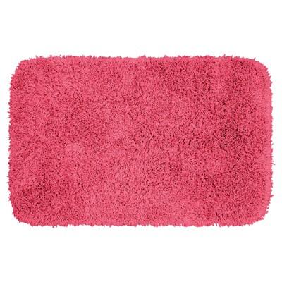 Jazz Shaggy Solid Washable Nylon Bath Rug - Garland