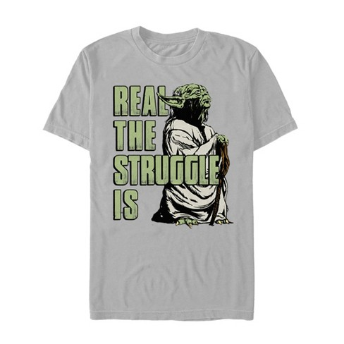Star Wars Men's Yoda Real the Struggle Is T-Shirt - image 1 of 1