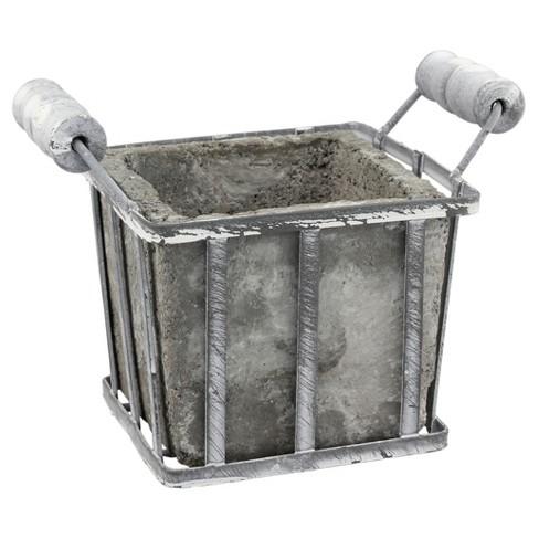 Cement Planter (Small) Gray - CKK Home Dcor - image 1 of 4