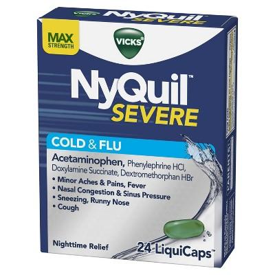 Cold & Flu: NyQuil Severe Vicks VapoCOOL LiquiCaps