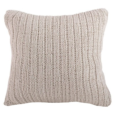 Knitted Design Throw Pillow (20 x20 )Saro Lifestyle