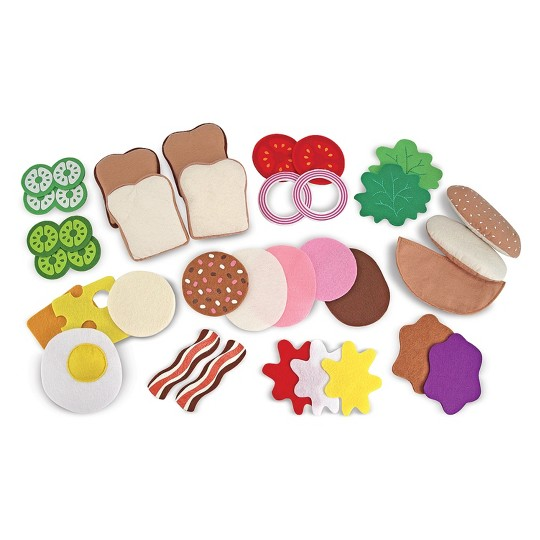 Melissa & Doug Felt Food Sandwich Play Food Set (33pc) image number null
