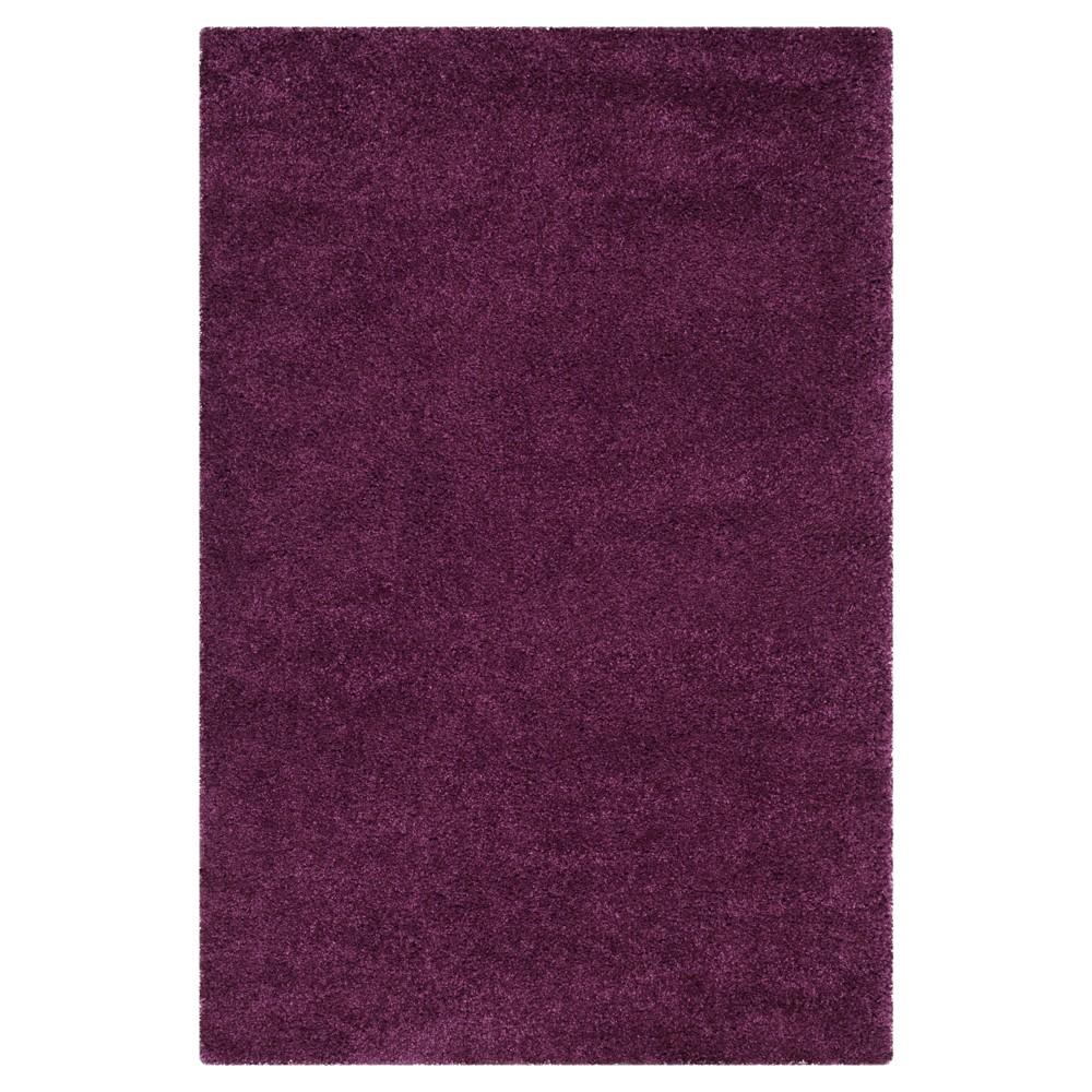 Purple Solid Loomed Area Rug - (4'x6') - Safavieh