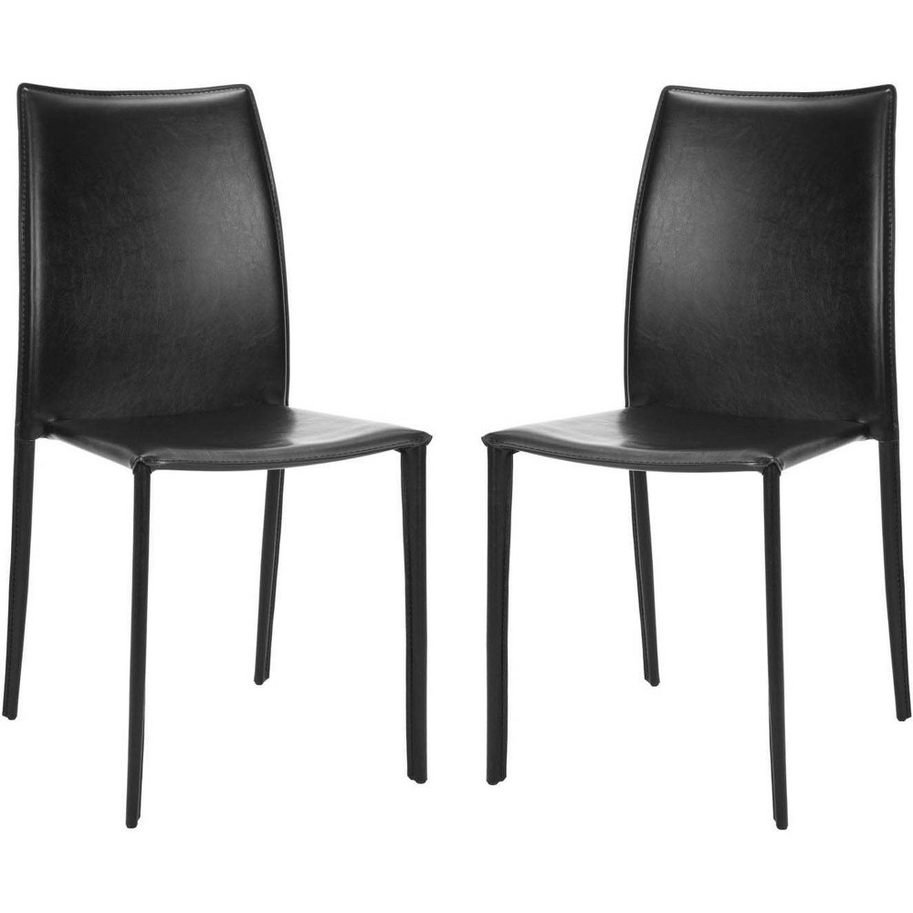 Set of 2 Dining Chairs Black - Safavieh