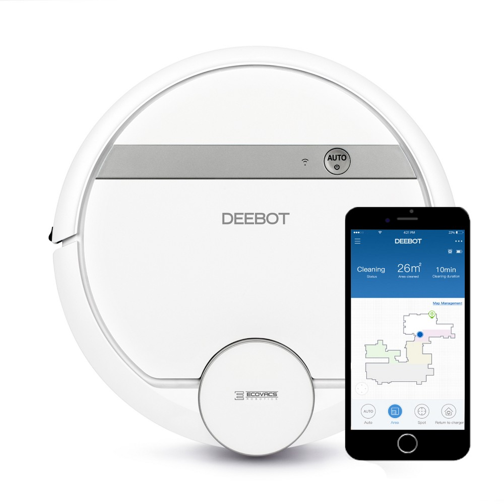 Image of Ecovacs Deebot 900 Smart Robotic Vacuum Cleaner with Advanced Navigation & Mapping, White