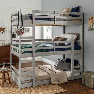 Solid Wood Triple Bunk Bed - Saracina Home