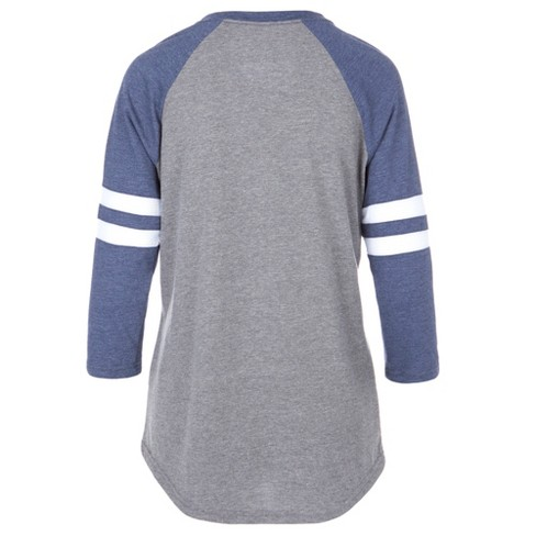 04a97619b NFL Dallas Cowboys Women's Simba Gray/ Long Sleeve Scoop Neck T-Shirt :  Target