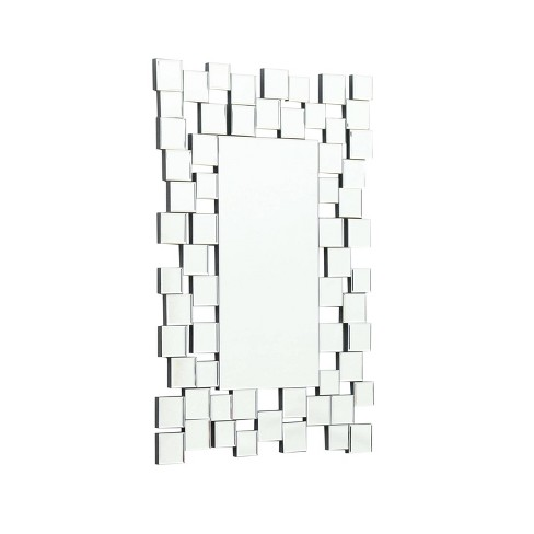 Eliza Rectangle Wall Mirror Silver - Abbyson Living - image 1 of 4