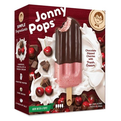 JonnyPops Cherry Chocolate & Cream Frozen Fruit Bars - 4pk/8.25oz