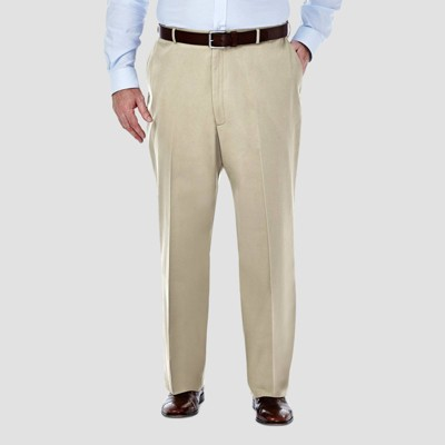 Haggar Men's Big & Tall Premium No Iron Classic Fit Flat Front Casual Pants