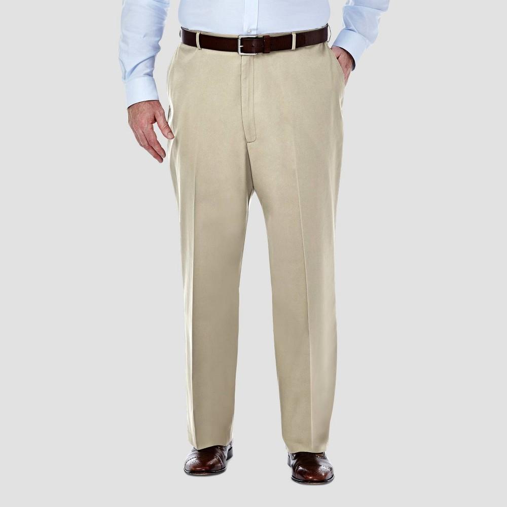 Cheap Haggar Men's Big & Tall Premium No Iron Classic Fit Flat Front Casual Pants -