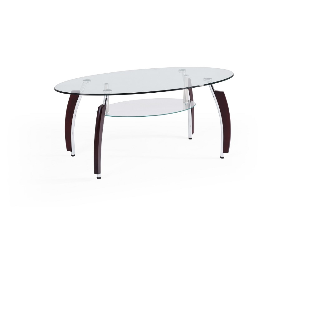 Image of Coffee Table Clear - Hodedah Import