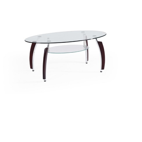 Coffee Table Clear - Hodedah Import - image 1 of 3