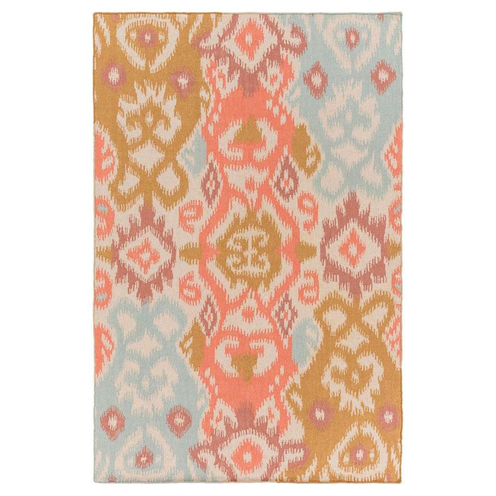 Rose (Pink) Solid Woven Area Rug - (5'X7'6) - Surya