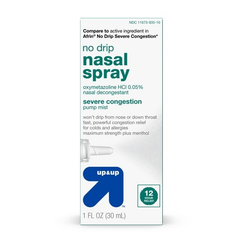 No Drip Nasal Decongestant Spray - 1 fl oz - up & up™ - image 1 of 4