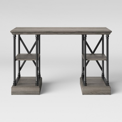 Conway Cast Iron Desk Wood - Threshold™ - image 1 of 4