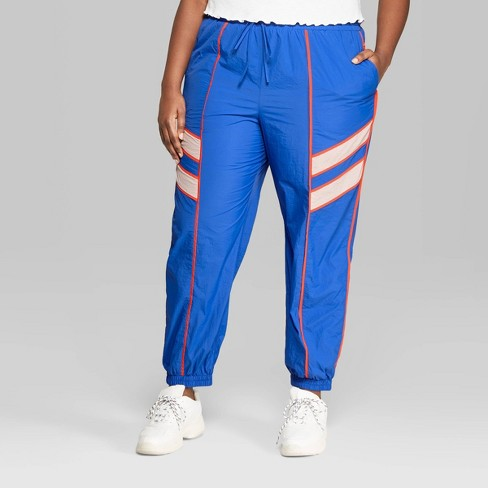 55a559758f3222 Women's Plus Size High-Rise Retro Track Pants - Wild Fable™ Royal ...