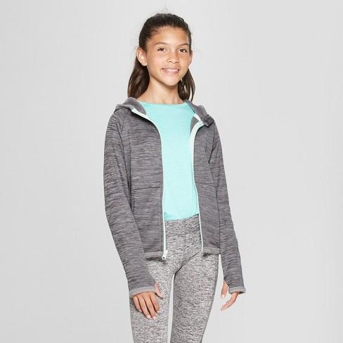 Girls' Cozy Tech Fleece Sweatshirt - C9 Champion® Gray L - image 1 of 3