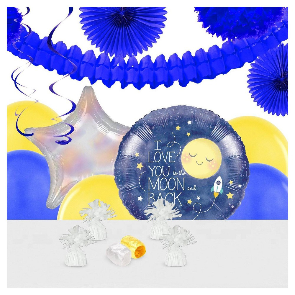 To TB2:B149he Moon & Back Party Decoration Kit