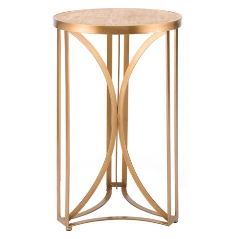 "17"" Luxe Round Steel Accent Table - Gold - Zm Home - image 1 of 1"
