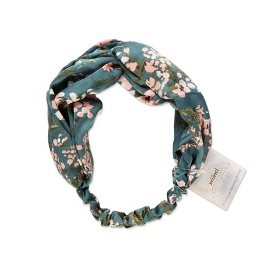 scunci Fashion Turban Headwrap - Teal Floral