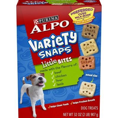 Purina Alpo Variety Snaps Little Bites Beef, Chicken, Liver & Lamb Flavor Dog Treats - 32oz