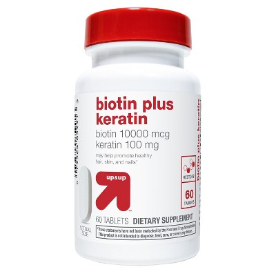 Biotin Plus Keratin Caplets - 60ct - up & up™