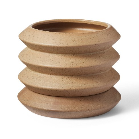 Coiled Stoneware Planter Natural - Hilton Carter for Target - image 1 of 4
