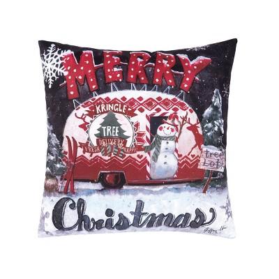 """C&F Home 18"""" x 18"""" Tree Lot Christmas Indoor/Outdoor Indoor/Outdoor Pillow"""