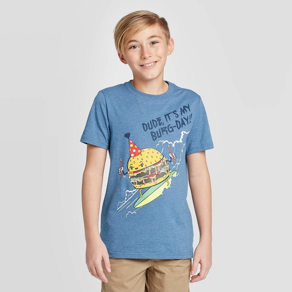 Boys 39 Short Sleeve Birthday Graphic T Shirt Cat 38 Jack 8482 Blue Xs