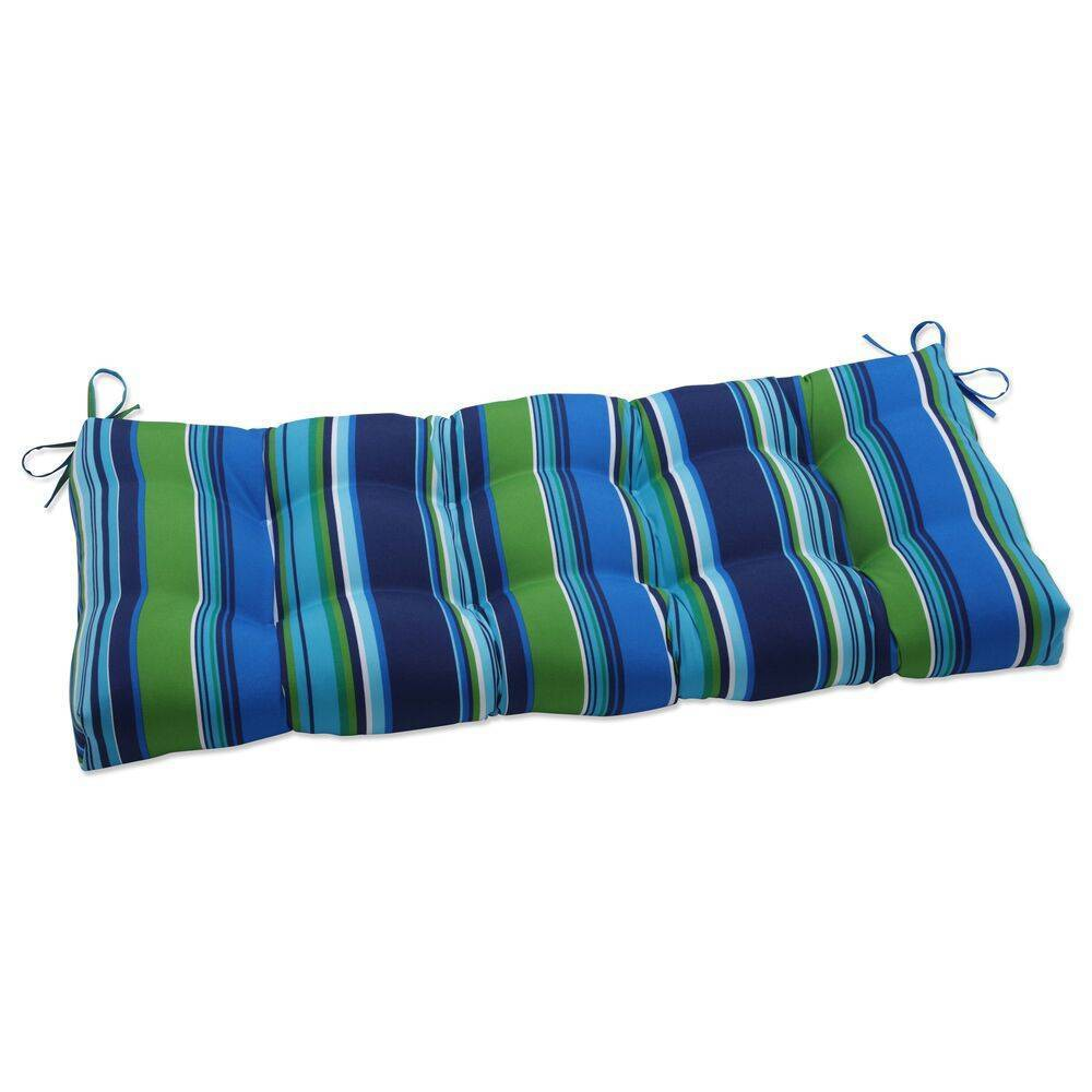 44 34 X 18 34 Outdoor Indoor Tufted Bench Swing Cushion Sea Island Blue Pillow Perfect