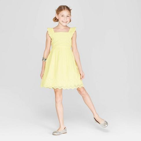 Girls' Eyelet Scallop Dress - Cat & Jack™ - image 1 of 3