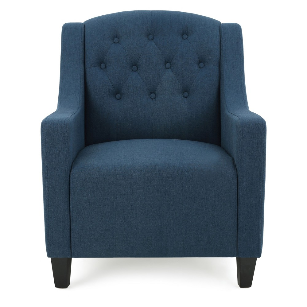 Maisy Club Chair - Dark Blue - Christopher Knight Home